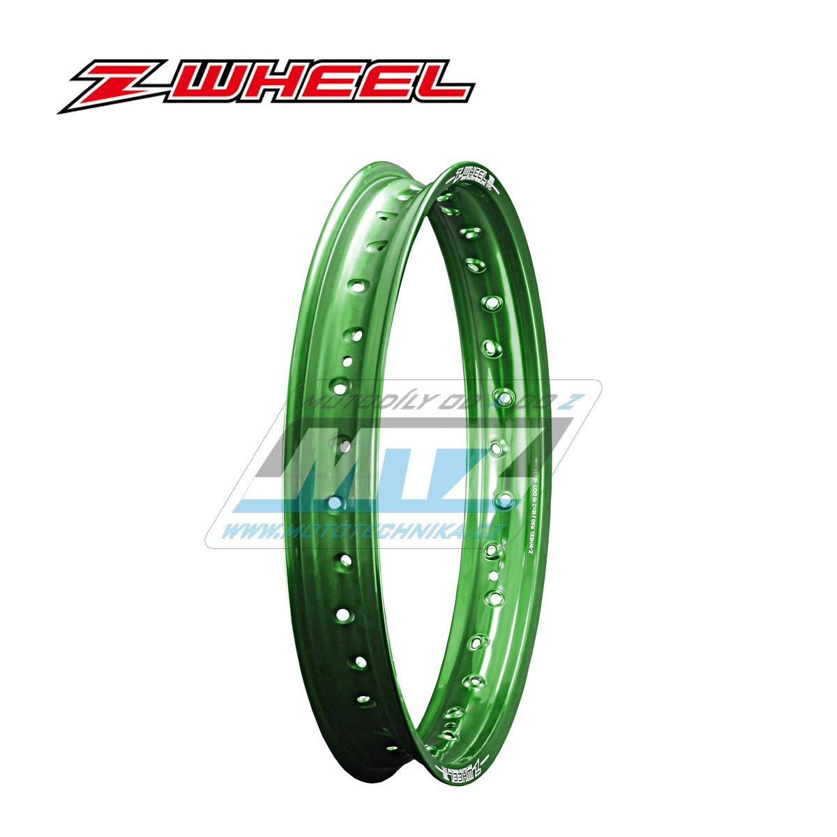 """Ráfek zadní Zeta Z-WHEEL - rozměr 2,15x19"""" - 36H (předvrtaný 36otvorů) - zelený"""